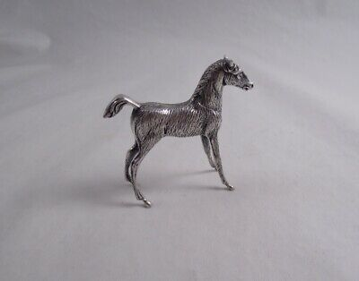 Spanish .915 Silver Horse Colt Figurine Statue Not Sterling Great Quality