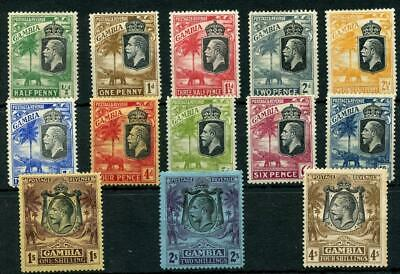 Gambia 1922-29 Script values to 4s MM cat £119 - see desc