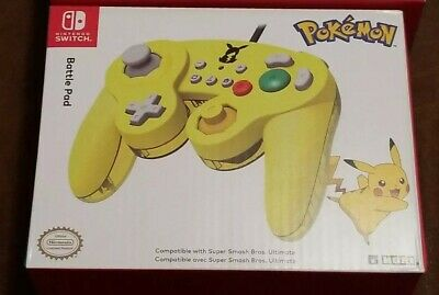 HORI Nintendo Switch Battle Pad GameCube Style Controller Pokemon Pikachu NEW