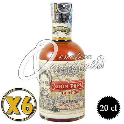 6 Rum - Don Papa Aged In Oak Ron Philippines Invecchiato 7 Anni - Rhum 20Cl