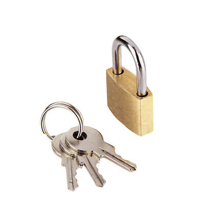 Family with Small Copper Lock Luggage Bag Padlock Mailbox Lock with Three Keys