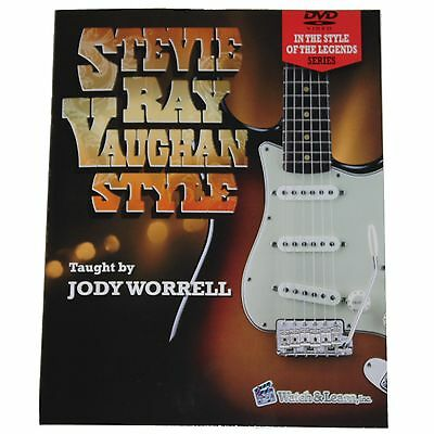 New! Watch and Learn Stevie Ray Vaughan / SVR Book and 2 DVD Set