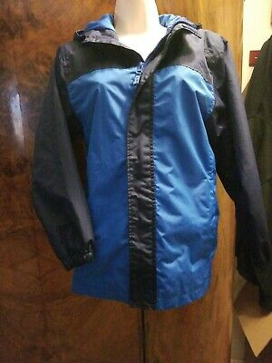 Girls Faded Glory Rain Jacket - Blue - Size Large (10-12)