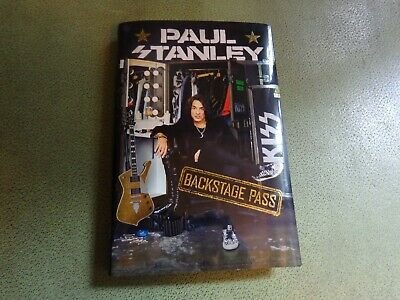 PAUL STANLEY SIGNED book Backstage Pass All-Access Guide ~ KISS