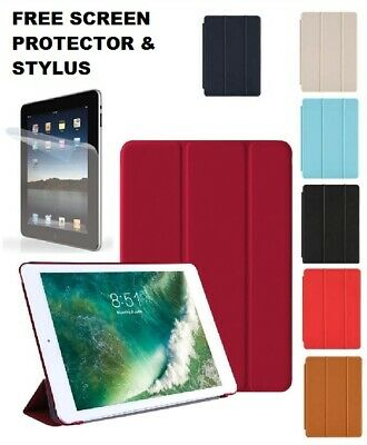 9.7 Leather Smart Stand Cover Hard Case for Apple iPad 2 4th 5 6th Generation