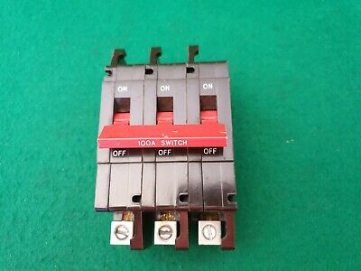 Crabtree C50 3 Phase 3 Pole 100 Amp Load Switch