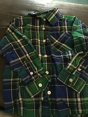 The Children's Place Boys Plaid Button-down LS Dress Shirt 4T