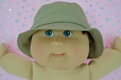 """Play n Wear Dolls Clothes For 16"""" Boy Cabbage Patch TAUPE DRILL SUN HAT"""