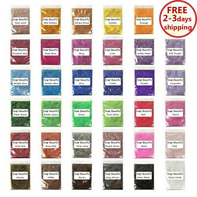 Mica Powder Pigments For Bath Bomb Soap Making Candle Resin Jewelry 36 Colors