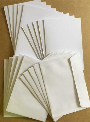 40 Pk-20 A6 Blank DIY Cards 200gsm Quality White + 20 C6 Envelopes Wedding Party