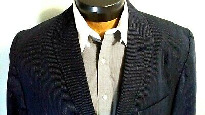 International Concept Blue Two Button Stripe Jacket Blazer Coat Sz XL NWOT