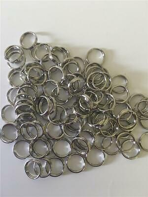 100 x 7mm Split Ring Jump Ring Jewellery Findings Fishing NEW
