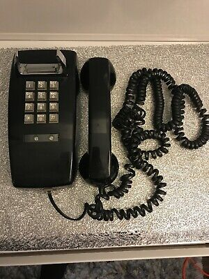 Vintage Bell System Western Electric Black Touch Tone Wall Phone 2554 BMPG