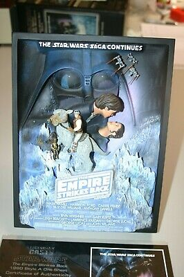 Code 3 legendary casts Empire Strikes Back Style A One Sheet Movie Sculpture