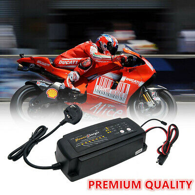 12V Smart Trickle Battery Charger For Car Motorcycle Caravan Boat Uk Plug