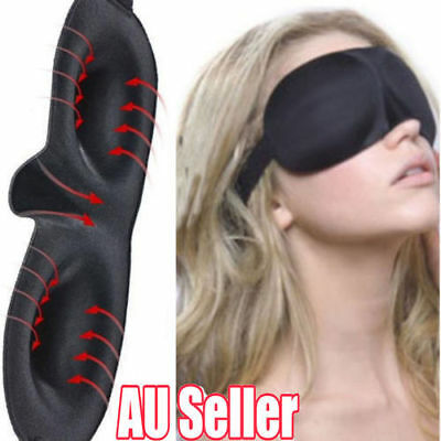 Travel Sleep Eye Mask 3D Memory Foam Padded Shade Cover Sleeping Blindfold UN