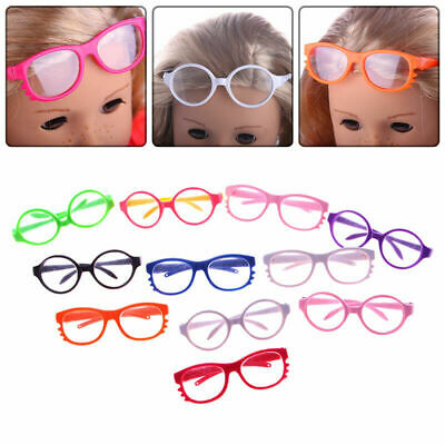 Fashion Handmade Doll Girl Glasses For 18 Inch Doll Toy Clothes Color Rando L5K1