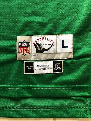 info for a0ae4 f7724 VTG MIKE QUICK Philadelphia Eagles Jersey Sand Knit ...