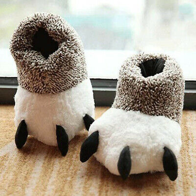 Lovely Animal Paw Slippers Bear Claws Slipper Soft Plush Warm House Shoes AU