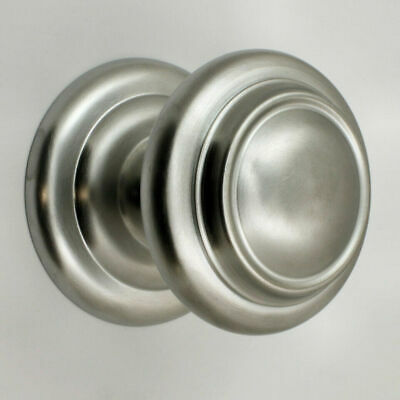 Large Good Heavy Quality Door Pull Knob - Satin Chrome