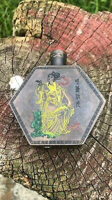 Beautiful Vintage Hand Painted Chinese Oriental Decorative Perfume Snuff Bottle*
