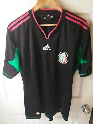 new product 5a423 88571 2010 WORLD CUP Mexico Away Black Soccer Jersey Sz L - Chicharito Blanco  Marquez