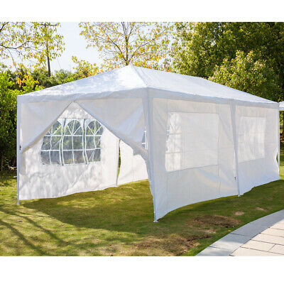 3x6m Gazebo Marquee Party Tent Waterproof Garden Patio Outdoor Canopy w/ 6 Sides