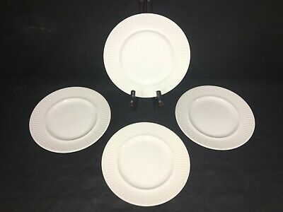 """Johnson Brothers Bros ATHENA WHITE RIBBED 6 3/8"""" BREAD & BUTTER PLATES Set x 4"""