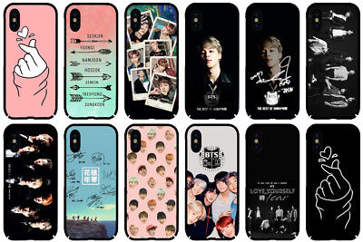 BTS KPOP Bangtan Boys Band Cute Heart Phone Case Cover for IPhone for Samsung