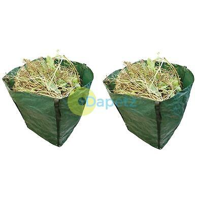 2 x Large Garden Waste Recycling Tip Bags Heavy Duty Non Tear Woven Plastic Sack