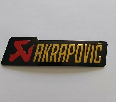 Akrapovic Exhaust Heat Proof Resistant Aluminium Sticker Decal Yamaha Ninja KTM
