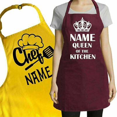 Personalised Custom Printed Apron for Kitchen - Your Text Name Design Logo