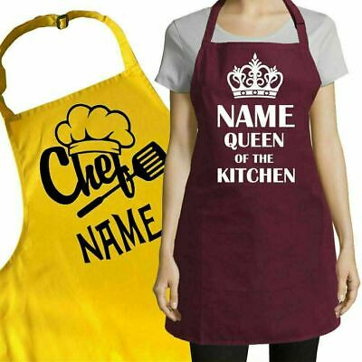 Personalised or Plain Apron for Kitchen Salon Pub Restaurant Any Text Logo Name