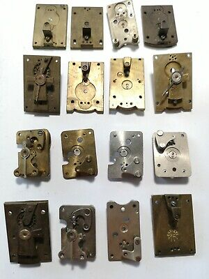 Job Lot Of 16 Vintage Clock Platform Escapement Plates (B05)