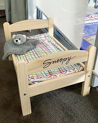 Personalised Luxury Wooden Miniature Dog Cat Pet Bed Frame Mini Wood Furniture