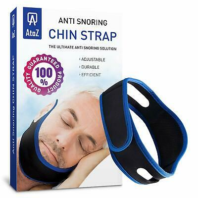 AtoZ New Anti snoring Chin Strap - Snore Stopper - Best Black Color