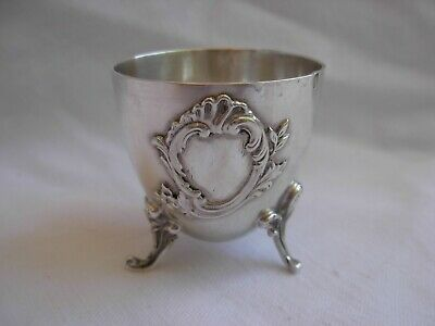 ANTIQUE FRENCH STERLING SILVER EGG CUP,LOUIS 15 STYLE,LATE 19th CENTURY.