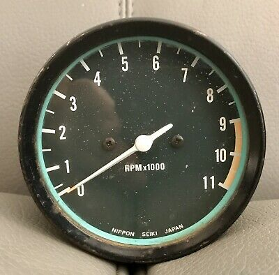 Vintage Japanese RPM Rev Counter Nippon Seikei