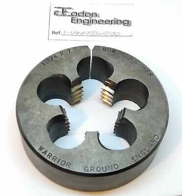 "1 1/4"" x 7TPI BSW (British Standard Whitworth) Button Die, HSS. By top brands."