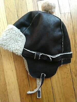 Toddler Boys Baby Gap Trapper Sherpa lined Hat 12-18 Months