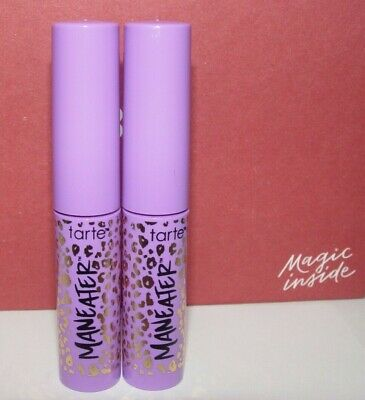 9d8ac06b4af LOT of 2 Tarte Maneater Voluptuous Mascara Travel Size .15 oz/ 4.5 ml ea