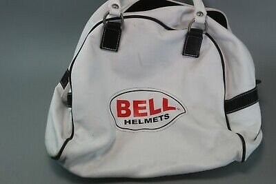 Genuine Bell Bullitt Custom 500 Motorcycle Helmet Faux Leather Carry Bag White