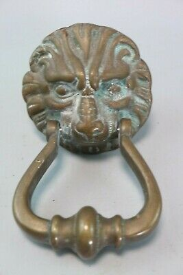 Reclaimed Large Brass Lion Face Door Knocker Nicely Detailed