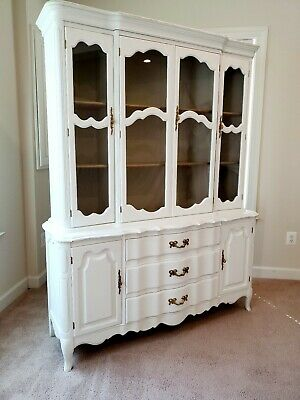 Fantastic Vintage French Country Style China Cabinet Hutch Buffet Interior Design Ideas Clesiryabchikinfo