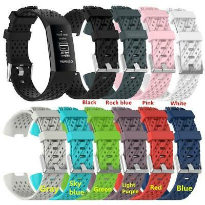 Replacement Silicone Soft Strap For FitBit Charge 3 Strap Wristband Military