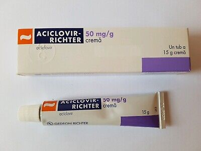 Cold Sore Cream 15g. Aciclovir GedeonRichter Treatment