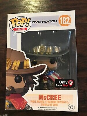 *CLEARANCE* Funko Pop Overwatch McCree GameStop Exclusive USA (Damage)