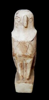 Rare Horus Faience Egyptian Ancient Antique Carved Egypt art Amulet Bead Mummy