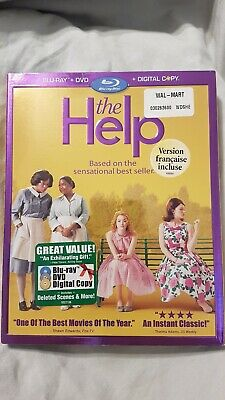 The Help (Blu-ray/DVD, 2011, 3-Disc Set) Slipcover Canadian