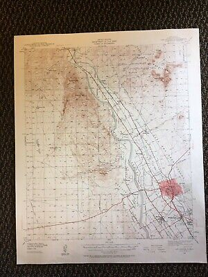 Vintage USGS Las Cruces New Mexico 1941 Topographic Map